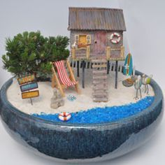 Did You Know Mermaids are Fairies Too? - MiniatureGardening.com #miniaturegardening #fairygarden #beachscene
