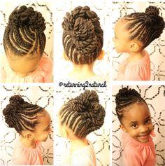 Black Kids Hairstyles, Little Girl Hairstyles, African Hairstyles, Cute Hairstyles, Holiday Hairstyles, Little Girl Braid Styles, Little Girl Braids, Braids For Kids, Kid Braids
