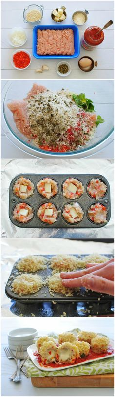 {Mini} Chicken Parm Meatloaf Cupcakes