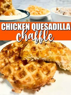 Chicken Quesadilla Chaffles taste just a like a chicken and cheese quesadilla. - Chicken Quesadilla Chaffles taste just a like a chicken and cheese quesadilla. The great thing abou - Healthy Recipes, Ketogenic Recipes, Keto Recipes, Skillet Recipes, Fish Recipes, Best Low Carb Recipes, Lunch Recipes, Recipies, Churros