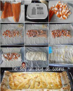 No soy un blog de cocina: HOJALDRE TRENZADO DE SALMÓN