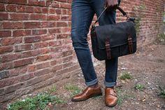ONA   The Prince Street - Black - Camera and laptop messenger bag