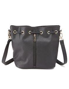 Convertible Cross-Body Bucket Bag