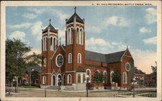 The original St. Philip Church in Battle Creek, MI