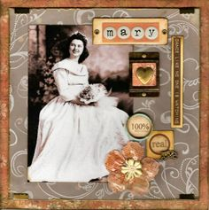 Mary...multiple techniques with embossing powders add texture and dimension to this lovely scrapbook page. Complete instructions for this look are given so you can try this yourself!