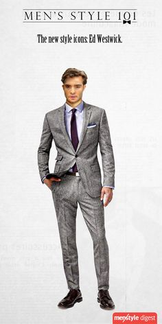 Ed Westwick - The new face of dapper.