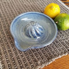 Citrus Juicer in Denim Blue Handmade Ceramic Pottery Lemon