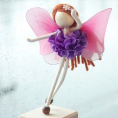 Purple Princess Doll Pink Fairy Doll No face by OrientalColour adorable art...look at her work!!