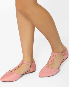 f1081afdbc3f Buy PINK MFT Couture Flat Shoes with Ankle Straps Pink Flats