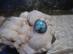 Turquoise Ring Vintage Southwest Style Hippie by LandofBridget
