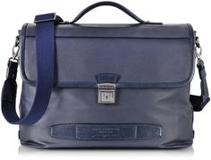 $1,370, The Bridge By Pininfarina Leather Briefcase. Sold by Forzieri.