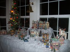 """""""A Christmas Story"""" village. One of my favorite decorations"""