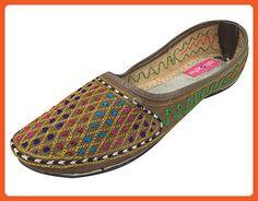 6cc7beae3b12 Step n Style Sequin Bridal Flats Wedding Shoes Indian Designer Shoes  Punjabi Jutti - Flats for women ( Amazon Partner-Link)