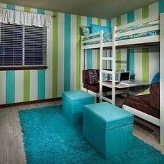 .@roomsforeva | Green and blue bedroom | Webstagram - the best Instagram viewer