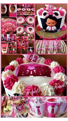 Toddler Birthday Themes, 1st Birthday Girl Decorations, 2nd Birthday Party For Girl, Baby Girl Birthday Outfit, Boss Birthday, Baby Girl Cakes, Baby Girl Shower Themes, Baby Party, Baby Shower