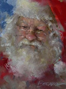 Mike Beeman - Man of the Season- Pastel - Painting entry - December 2013 Santa Paintings, Christmas Paintings, Pastel Paintings, Father Christmas, Santa Christmas, Xmas, Silver Christmas, Victorian Christmas, Christmas Ornaments