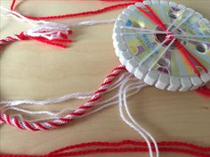 Using KUHIMINO to create a beautiful Bulgarian MARTENITSA Bulgarian, Washer Necklace, Red And White, Crochet Necklace, Create, Unique, Beautiful, Accessories, Jewelry
