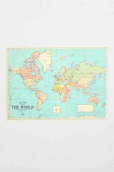 Map Poster - Urban Outfitters