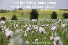 Helping others Help themselves.  FB/FollowYourSong
