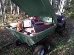 Trailer Mode, Tetrapod, ATV trailer, Tetra-pod, Tetrapod boat, ATV Cart, Plastic ATV Trailer, Plastic Tub Trailer