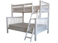 Bedz King Bunk Bed Twin Over Full Mission Style In White 349 At