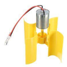 DIY Vertical Micro Wind Turbines Rotating Blades Generator Small DC Motor