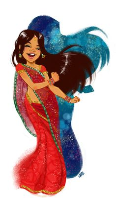 ladycamafeo:    Colorful dance by *Gali-miau  My friend Olaya Valle and their magical works that inspire me and hit me directly to the heart!    Awwww!