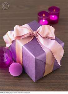 Christmas gift wrapped in purple [FAN2010169] > Stock Photos | Royalty ...