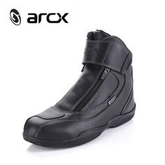 ARCX Motorcycle Boots Genuine Leather Waterproof Street Moto Racing Boots Motorbike Chopper Cruiser Touring Riding Shoes
