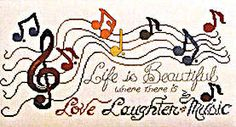 Click for more details of Stitching to the Music (cross-stitch pattern) by Stoney Creek
