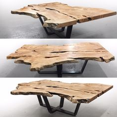 Live edge maple modern coffee table. Custom furniture, sculpture and architectural elements made from reclaimed wood and fallen trees by Fallen Industry. Contemporary home decor and office design studio and wood shop based in NYC Brooklyn. Created by New York sculptor and designer Paul Kruger.