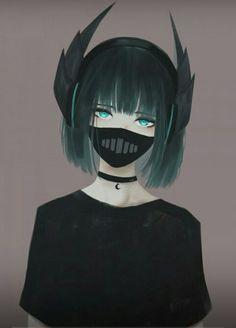 Anime Girl | Manga Girl | Gloomy | Black Anime Girl | Beautiful | Pretty | Waifu | Dark |  Emo | Goth |