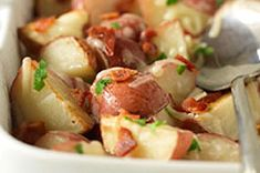Roasted Red Potatoes with Bacon and Cheese recipe