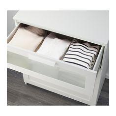 BRIMNES Cassettiera con 3 cassetti - bianco/vetro smerigliato - IKEA