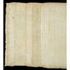 Towel- 1500-1550 linen embroidered with silk.