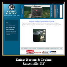 My Web Design Clients: Knight Heating & Cooling. Russellville, Kentucky.