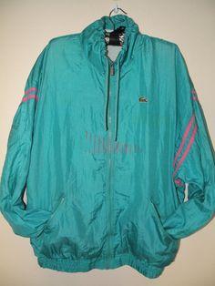 b3953fafb72299 Vintage Lacoste Electric Windbreaker Jacket Coat Size by JustGiza,  20.00  Windbreaker Jacket, Lacoste,