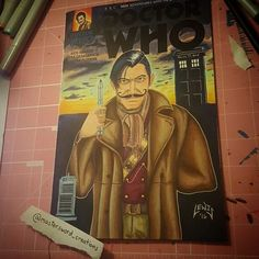 Amazing  Doctor Who fanart created by @mastersword_creations with their friend @gotchstylewwe immortalized as the War Doctor on a Dr. Who comic cover.  #artist #art #copic #chameleonpens #markers #ink #sketchcover #sketch #fanart #drwho #tardis #wwe #nxt #vaudevillains #bootsdowndukesup #simongotch #gotchstyle #wrestling #quitemanly
