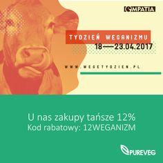 Zapraszamy na #tydzienweganizmu na www.pureveg.pl  #sklepweganski #dietaweganska #rabatdlawegan #pureveg