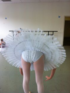 shows the underlayers in a pancaked tutu - but I've not seen the ruffles on the nickers go upwards before!!!