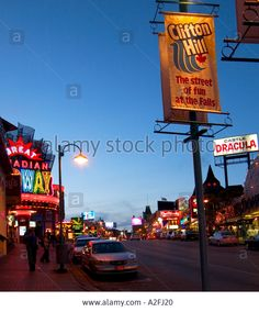Download this stock image: Clifton Hill at night Niagara Falls Canada - A2FJ20 from Alamy's library of millions of high resolution stock photos, illustrations and vectors.