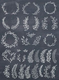 Lettering Fonts Discover Laurel Wreath Clipart Wreath Clip Art Laurel Wreath PNG Botanical Clipart Hand Drawn Clip Art Floral Wreath Vector PNG Commercial Use Photoshop Brushes, Embroidery Stitches, Embroidery Patterns, Hand Embroidery, White Embroidery, Art Floral, Web Design, Logo Design, Hand Lettering