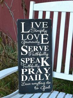 Live Simply Christian wall plaque