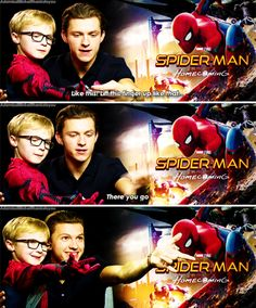 Probably the sweetest Spider-Man ever.