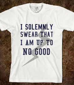I Solemny Swear That I Am Up To No Good