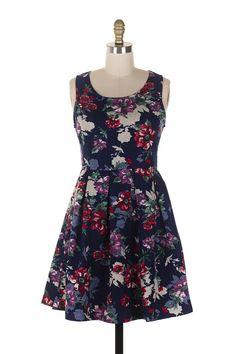 Everly Floral Print Skater Dress