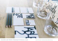 Nordic inspired black & white stationery | Photo: Christine Meintjes, Stationery: Sugarpenguin