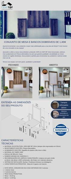 Mesa dobrável de Parede, Mesa de parede pequena para cozinha - Mesa Dobrável de parede OpenUp!