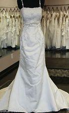 Wedding Dress Gown Amalia Carrara Beaded Silk Vintage Hollywood Gently Used