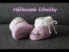 Návod na háčkování botiček pro miminka Crochet Shoes, Crochet Baby Booties, Crochet Slippers, Crochet For Kids, Free Crochet, Knit Crochet, Baby Slippers, Baby Boots, Working With Children